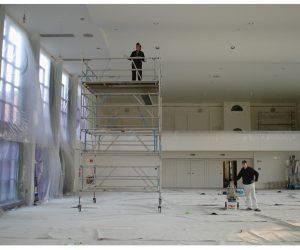 Malerarbeiten auch in großen Höhen
